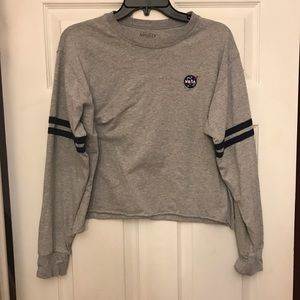 NASA cropped long sleeve tee